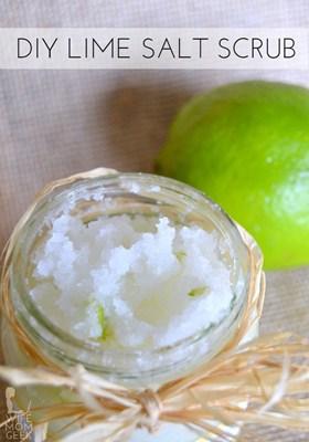 Lime Salt Scrub